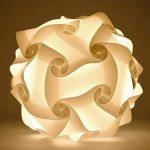kwmobile Lampe puzzle abat-jour - Luminaire IQ plafond ou chevet - Lumière blanche - Taille M - Montage 30 pièces 15 modèles - Diamètre env. 27 cm de la marque kwmobile image 3 produit