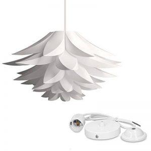kwmobile Lampe puzzle design lotus - Abat-jour XL à monter - Luminaire IQ plafond - Ensemble avec montage plafonnier câble 90cm douille E27-50 pcs de la marque kwmobile image 0 produit
