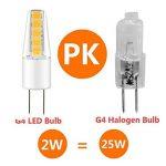 LAKES Ampoule G4 LED COB, DC/AC 12V 2W G4 Lumière (Equivalent à Halogène 25W), imperméable lampe 3000 K (Blanc Chaud) 6 packs de la marque LAKES image 3 produit