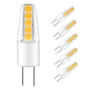 LAKES Ampoule G4 LED COB, DC/AC 12V 2W G4 Lumière (Equivalent à Halogène 25W), imperméable lampe 3000 K (Blanc Chaud) 6 packs de la marque LAKES image 0 produit