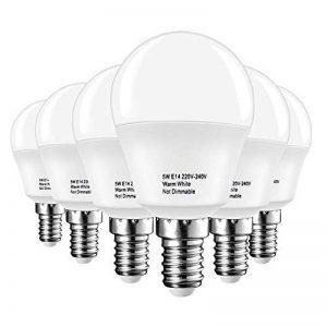 LAKES ampoule LED E14 Petit culot à vis, balle de golf P45 ampoule, 5 W (équivalent ampoule à incandescence de 40 W), blanc chaud 3000 K, 6-pack, plastique, Blanch chaud (3000 k), E14, 5.00W 220.00V de la marque LAKES image 0 produit