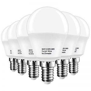 LAKES ampoule LED E14 Petit culot à vis, balle de golf P45 ampoule, 5 W (équivalent ampoule à incandescence de 40 W), blanc chaud 3000 K, 6-pack, plastique, Daylight White 6000k, E14, 5.00W 220.00V de la marque LAKES image 0 produit