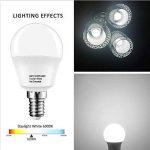 LAKES ampoule LED E14 Petit culot à vis, balle de golf P45 ampoule, 5 W (équivalent ampoule à incandescence de 40 W), blanc chaud 3000 K, 6-pack, plastique, Daylight White 6000k, E14, 5.00W 220.00V de la marque LAKES image 2 produit