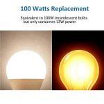 LAKES Ampoule LED Globe A19 Culot B22, 100W Équivalent Ampoule sphérique, 6000K Blanc froidK, Lot de 6 de la marque LAKES image 4 produit