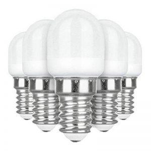 LAKES E14 LED Ampoule pour Réfrigérateur, 2W E14 Lumière (Equivalent à Halogène 25W), Congélateur Lampe 6000 K (Blanc Froid) 5 packs de la marque LAKES image 0 produit