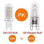 LAKES G9 5W LED Ampoule, Ampoule halogène équivalente à 40W, Sans gradation, 400LM, Sans scintillement, Sans stroboscope, Blanc chaud 3000K, Ampoule à économie d'énergie LED, 6-PACK de la marque LAKES image 3 produit