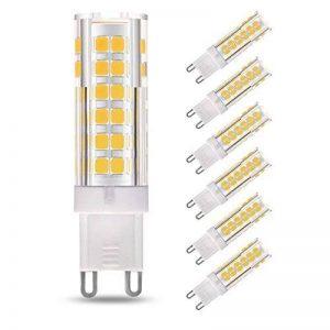 LAKES G9 LED Ampoule, 7W (équivalent ampoule halogène 60W), non-gradable, angle de faisceau de 360 degrés, 3000K blanc chaud, ampoules à économie d'énergie, 6 paquets de la marque LAKES image 0 produit