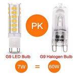 LAKES G9 LED Ampoule, 7W (équivalent ampoule halogène 60W), non-gradable, angle de faisceau de 360 degrés, 3000K blanc chaud, ampoules à économie d'énergie, 6 paquets de la marque LAKES image 3 produit