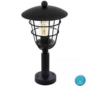 Lampadaire d'extérieur Filament Cage Base Lamp Dimmer Lantern noir dans l'ensemble, y compris les ampoules LED de la marque etc-shop image 0 produit