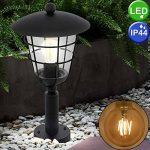 Lampadaire d'extérieur Filament Cage Base Lamp Dimmer Lantern noir dans l'ensemble, y compris les ampoules LED de la marque etc-shop image 1 produit