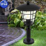 Lampadaire d'extérieur Filament Cage Base Lamp Dimmer Lantern noir dans l'ensemble, y compris les ampoules LED de la marque etc-shop image 4 produit