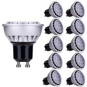 Lampaous® 7w led gu10, blanc froid 6000k, 450lumen équivalent 50 watts, 230VAC, non dimmable, lot de 10 ampoules. de la marque Lampaous image 0 produit