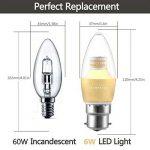 Lampaous® C376W B22LED Ampoules Flamme, baïonnette Chandelier ampoules, 60W Ampoule à incandescence équivalent, 500LM, lumière blanche du jour 4000K, non dimmable, à économie d'énergie d'or LED bougie ampoules, 220–240V AC, Lot de 10unités de la ma image 1 produit