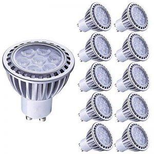 Lampaous GU10 led 7w blanc froid ampoules disponibles 70w halogène de rechange 600lm 6000k 230V AC lot de 10 Non dimmable de la marque Lampaous image 0 produit