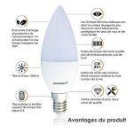 LAMPAOUS® LED E14, forme bougie, 7 Watt 3000K Blanc Chaud, 560 Lumens équivalent aux ampoules halogènes de 70w , Petite vis Edison SES E14 Ampoule, Non dimmable, Lot de 6 Unités. de la marque Lampaous image 2 produit