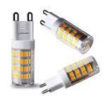 Lampaous Led G9 5w, blanc neutre 4000k, 5w G9 LED équivalent aux ampoules halogènes de 40 W. 350-400 lumens; angle de faisceau : 360 dégrées; basse consommation; not dimmable, lot de 8 de la marque Lampaous image 2 produit