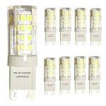 Lampaous® Led G9 , 6000k blanc froid, 5w G9 LED équivalent aux ampoules halogènes de 40 W. 350-400 lumens; angle de faisceau : 360 dégrées; basse consommation; not dimmable, lot de 8 ampoules de la marque Lampaous image 1 produit