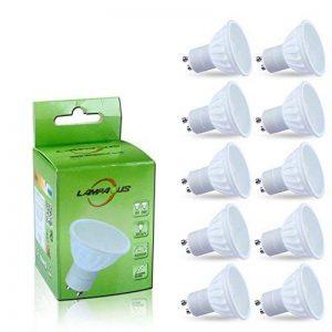 Lampaous® LED GU10, Lot de 10 ampoules,GU10 LED culot,4000k blanc pur 450lm,5w led remplace parfaitement les ampoules halogènes ordinaires de 50w. de la marque Lampaous image 0 produit