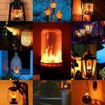 Lampe à Flamme Lumiereholic LED Flamme E27 Ampoule LED a Flamme Flamme Lampe Jadin LED Lampe Flicker Idéal pour Fête Maison Jardin Noël Halloween Mariage Soirée Restaurants [Classe énergétique A++] (2PCS) de la marque Lumiereholic image 4 produit