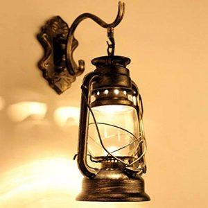 Lampe Abat-jour Éclairage Cage en fer Vintage Applique Murale Lustre Vintage Retro Filament Edison E27 (110-240V Ampoule non incluse) de la marque Zyurong® image 0 produit
