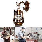 Lampe Abat-jour Éclairage Cage en fer Vintage Applique Murale Lustre Vintage Retro Filament Edison E27 (110-240V Ampoule non incluse) de la marque Zyurong® image 2 produit