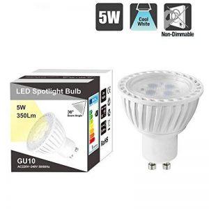 Lampe Ampoule GU10 LED Spot 5W Lampe a LED GU10 Pas Dimmable Eclairage Blanc Froid 5000K 220~240V pour Rail Luminaire LED Spot de Spot Encastrable Lot de 1 de Enuotek de la marque ENUOTEK image 0 produit
