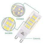 Lampe Ampoule Petite LED Culot G9 5W 400Lm Blanc Froid 6000K Economique Remplace Ampoule Halogene 40W AC220~240V pour Lampe Miroir Salle de Bain Lot de 6 de Enuotek de la marque ENUOTEK image 3 produit