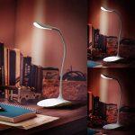 Lampe de bureau LED haute puissance Brandson | Lampe de table LED / lampe de bureau / lumière de table | Lampe de bureau flexible | 3 niveaux de luminosité | intensité de 70 lumen | 3 W | haute efficacité lumineuse | durable, solide & résistante | économe image 4 produit