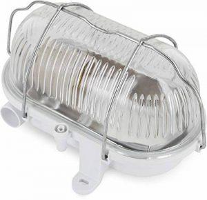 Lampe de cave Bulkhead E27 IP54 Blanc Couvercle en verre Grille métallique max. 60 W de la marque HAVA image 0 produit