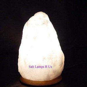 Lampe de sel blanc de l'Himalaya style cristal - 2-3kg - Câble électrique et douille d'ampoule inclus, prise anglaise de la marque Salt Lamps image 0 produit