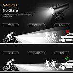 Lampe de Vélo ,NACATIN Kit d'éclairage de Vélo USB Rechargeable,Lumière Avant Imperméable 5 Modes + Arrière 4 Modes,Affichage de La Puissance,Lumières de Bicyclette de Sécurité pour Des Cavaliers de Nuit, Ultra lumineux 600 lumens de la marque NACATIN image 1 produit
