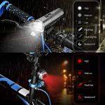 Lampe de Vélo ,NACATIN Kit d'éclairage de Vélo USB Rechargeable,Lumière Avant Imperméable 5 Modes + Arrière 4 Modes,Affichage de La Puissance,Lumières de Bicyclette de Sécurité pour Des Cavaliers de Nuit, Ultra lumineux 600 lumens de la marque NACATIN image 3 produit