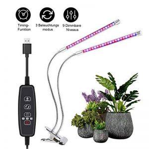 Lampe Horticole LED, Roleadro Lampe de Croissance 25W 40 LEDs avec 3 Minuteries(3H/9H/12H)Modes, Dimmable 9 Niveaux, 3 Modes de Lumière Disponibles LED Grow Light pour Plantes Fleurs Légumes de la marque Roleadro image 0 produit
