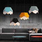 Lampe pendante créative de fer, lampe pendante creuse d'Origami de Colormatch, lustre simple d'art géométrique de tête, lampe de déco de magasin / salon / magasin de vêtements (sans ampoule) ( Couleur : Jaune ) de la marque Onfly image 3 produit