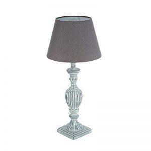 Lampe pied en bois patiné veilli gris 56 cm de la marque Atmosphera image 0 produit