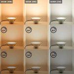 Lampe Plafonnier a LED Encastrable Plafond Encastrer Dimmable 10W Extra Plat Blanc Chaud Froid Ajustable 220V-240V Trou de Plafond Φ90-105MM IP44 Lot de 1 de Enuotek de la marque ENUOTEK image 3 produit