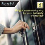 Lampe Solaire a LED x46 (Pack de 2) par RuneSol® | Eclairage led pour exterieur et détecteur de mouvements avec 46 ampoules LED | Eclairage lampe solaire jardin projecteur led sans fil | Eclairage de Patio, Jardin, Allées de la marque RuneSol image 3 produit