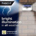 Lampe Solaire a LED x46 (Pack de 2) par RuneSol® | Eclairage led pour exterieur et détecteur de mouvements avec 46 ampoules LED | Eclairage lampe solaire jardin projecteur led sans fil | Eclairage de Patio, Jardin, Allées de la marque RuneSol image 4 produit