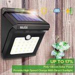 Lampe Solaire Extérieure, BAXiA 28LED Applique Solaire Sans Fil Lumière Solaire Imperméable avec Détecteur de Mouvement Lampe de Sécurité pour Jardin,Escalier Exterieur, Patio, Terrasse (400LM, Lot de 4) de la marque BAXiA image 1 produit