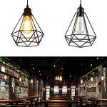 Lampe Suspension Vintage, Maxsal E27 Lustre Plafonniers (sans ampoule) Style Retro Industrielle (forme de cage) de la marque Maxsal image 2 produit