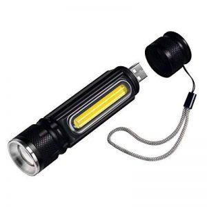 Lampe torche à LED rechargeable USB, Cofuture tactique lampe de poche 800lumens CREE T6LED lampe de travail avec aimant, étanche Mini lampe torche de camping, intérieur ou extérieur lampe de poche de la marque Cofuture image 0 produit