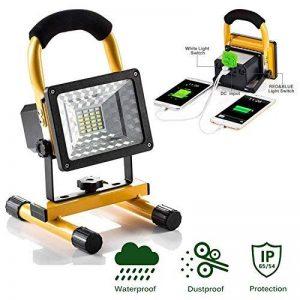 lanfu Projecteur à LED Blanc 15W/couloir éclairage/Camping Lampe de travail rechargeable/Phare/Spot Projecteur LED Phare de travail pratique sans fil portable de la marque JIN CAN image 0 produit