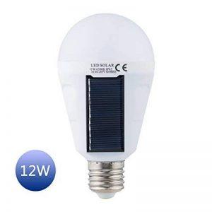 Laputa 2017 Nouveau conçus Panneau solaire ampoule LED alimenté léger, portable, étanche lumière d'urgence ampoule, 12W 1200 mAh avec lumière blanc pour jardin Intérieur Extérieur randonnée Camping, Blanc (12W-1pack) de la marque Laputa image 0 produit