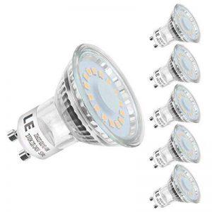 LE Ampoule LED GU10 4W (=50W Ampoule Halogène), MR16 350lm, Blanc Chaud, 2700K, 120° Larges Faisceaux, Culot GU10, Lot de 5 unités de la marque Lighting-EVER image 0 produit