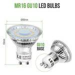 LE Ampoule LED GU10 4W (=50W Ampoule Halogène), MR16 350lm, Blanc Chaud, 2700K, 120° Larges Faisceaux, Culot GU10, Lot de 5 unités de la marque Lighting EVER image 2 produit