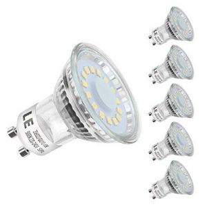 LE Ampoule LED GU10 4W (= 50W Ampoule Halogène), MR16 350lm, Blanc Lumière du Jour, 5000K, 120° Larges Faisceaux, Lot de 5 de la marque Lighting EVER image 0 produit