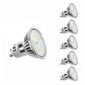 LE Ampoules LED GU10 3W (=35W Ampoule Halogène), MR16, 250lm, Blanc Chaud 2700K, 120° Larges Faisceaux, Lot de 5 de la marque Lighting EVER image 0 produit