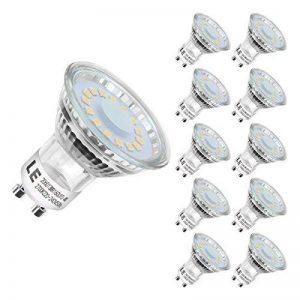 LE Ampoules LED GU10 4W (=50W Ampoule Halogène), MR16 350lm, Blanc Chaud 2700K, 120° Larges Faisceaux, Lot de 10 de la marque Lighting-EVER image 0 produit