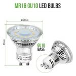 LE Ampoules LED GU10 4W (=50W Ampoule Halogène), MR16 350lm, Blanc Chaud 2700K, 120° Larges Faisceaux, Lot de 10 de la marque Lighting EVER image 2 produit