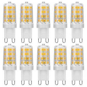 LE Lighting EVER Ampoule LED, Culot G9, 5W Blanc Chaud 3000K, Equivaut à Ampoules Halogènes 50W, Lot de 10 de la marque Lighting EVER image 0 produit